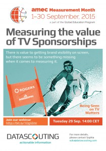 Measuring the value of TV sponsorship, #amecmm webiinar