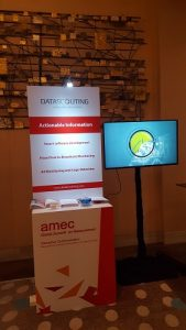 DataScouting exhibition booth at the AMEC Global Summit in Bangkok, May 17-18, 2017