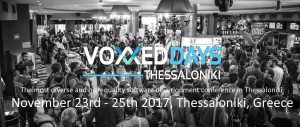 Voxxed Thessaloniki, 23-25 November 2017