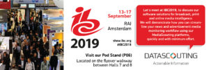 DataScouting at IBC Show 2019