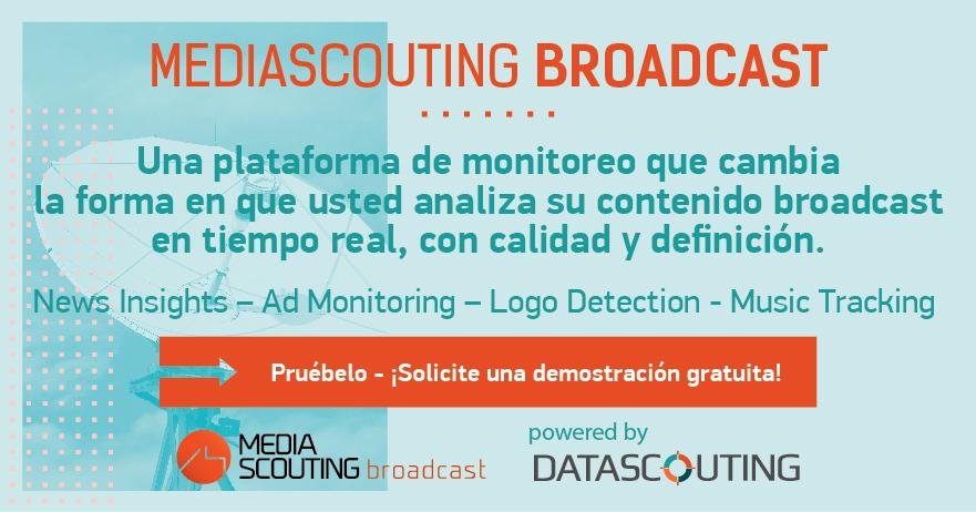 MediaScouting Broadcast: Una solución completa para el monitoreo de anuncios de televisión y radio