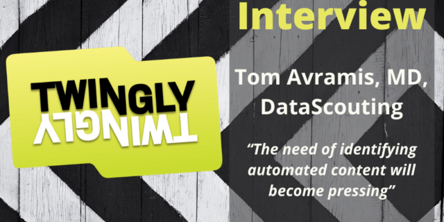 Tom Avramis, MD of DataScouting talks to Twingly about media monitoring software solutions