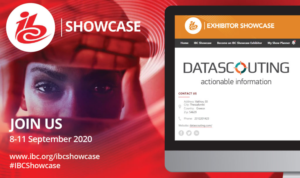 DataScouting at the IBC Showcase 2020