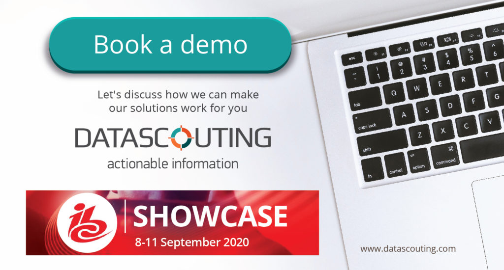 IBC Showcase 2020-book your demo with DataScouting