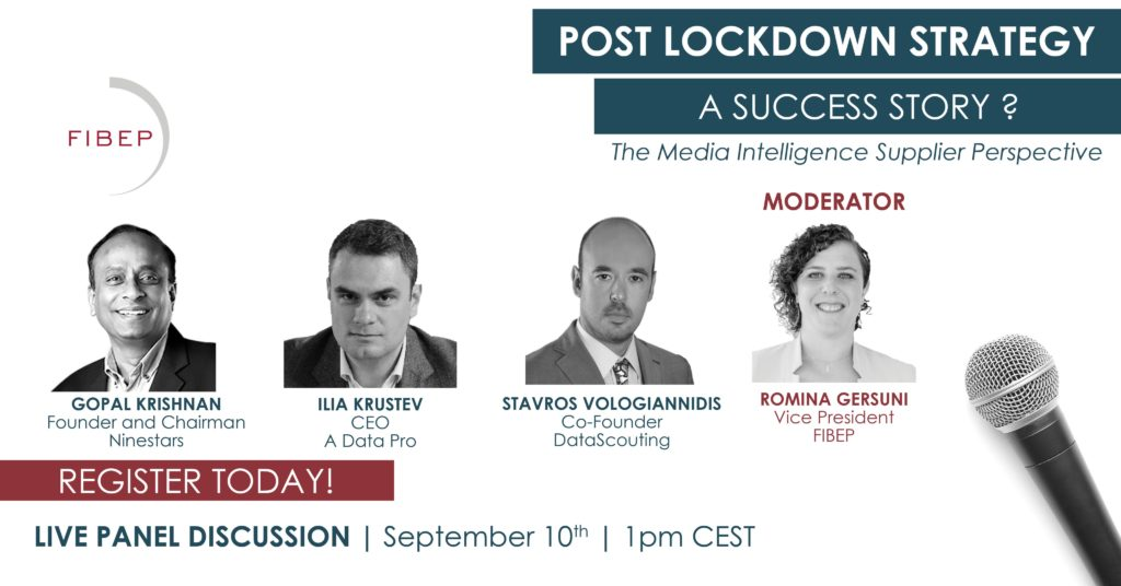 FIBEP panel: Post lockdown strategy – The media intelligence supplier perspective