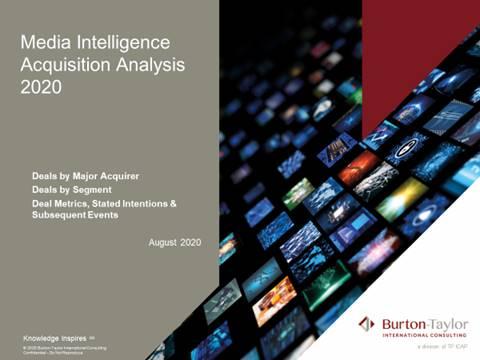 Media Intelligence Acquisition Analysis 2020_Burton-Taylor Consulting International