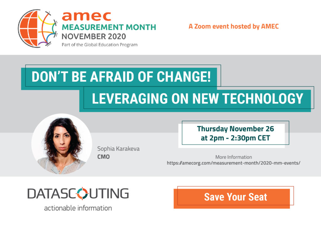 DataScouting at the AMEC Measurement Month